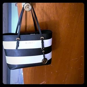 Michael Kors striped bag!